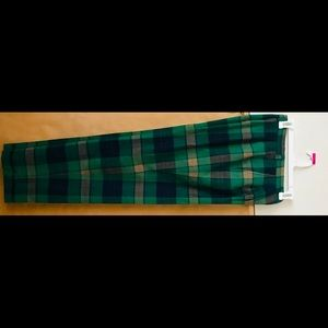 David Brooks Ltd Pants Green Blue Plaid Wool 8
